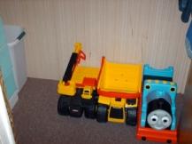 Big trucks - lots of floor space!