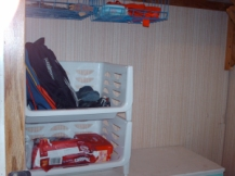 De-cluttered top of dresser.
