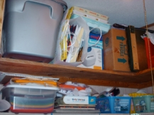 Much better! Storage items up top.